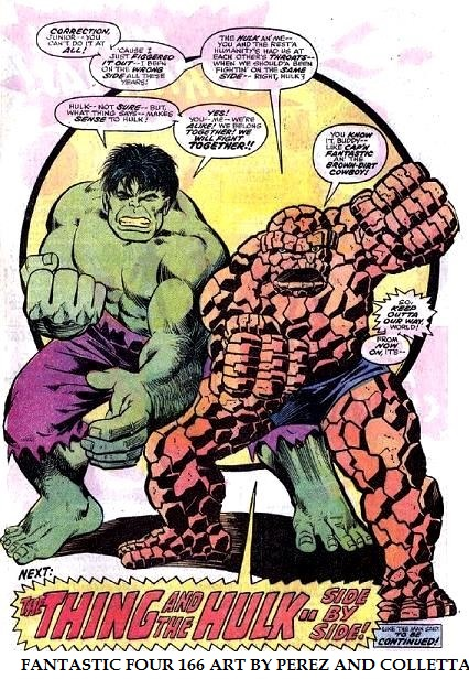 The Fantastic Four Art by George Perez and Vince Colletta