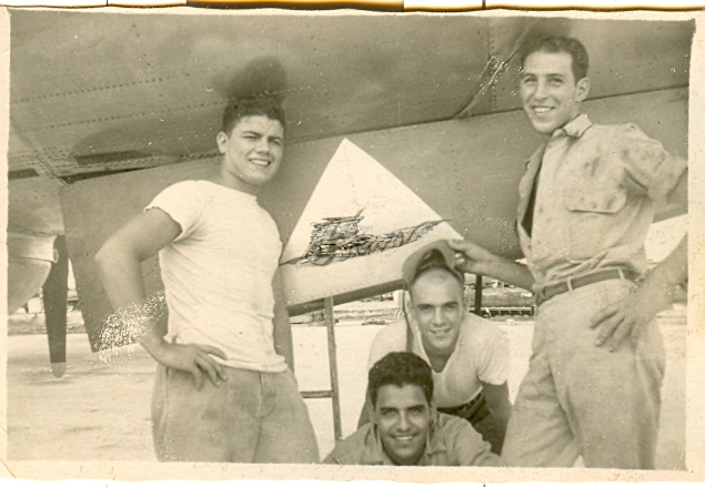 Vince Colletta in the Army Air Corps during World War II.
